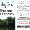 Trustee Vacancies – deadline extended to 29 June.