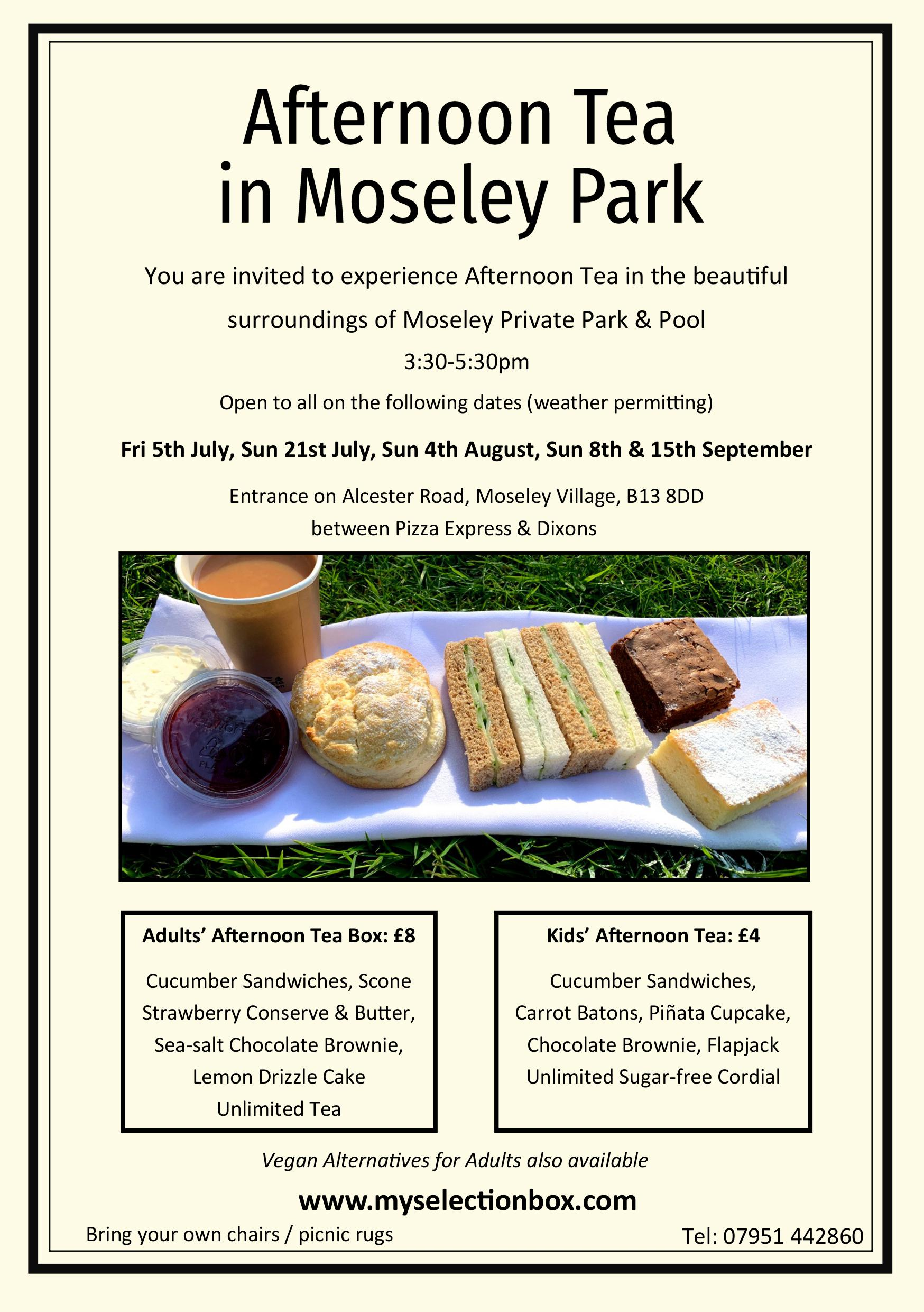 Afternoon Tea In Moseley Park Moseley Trust